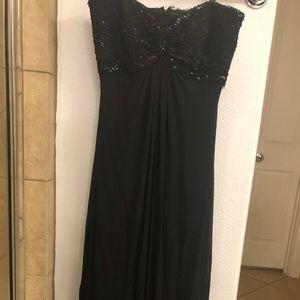 Tadashi Collection Silk Dress w/beaded top